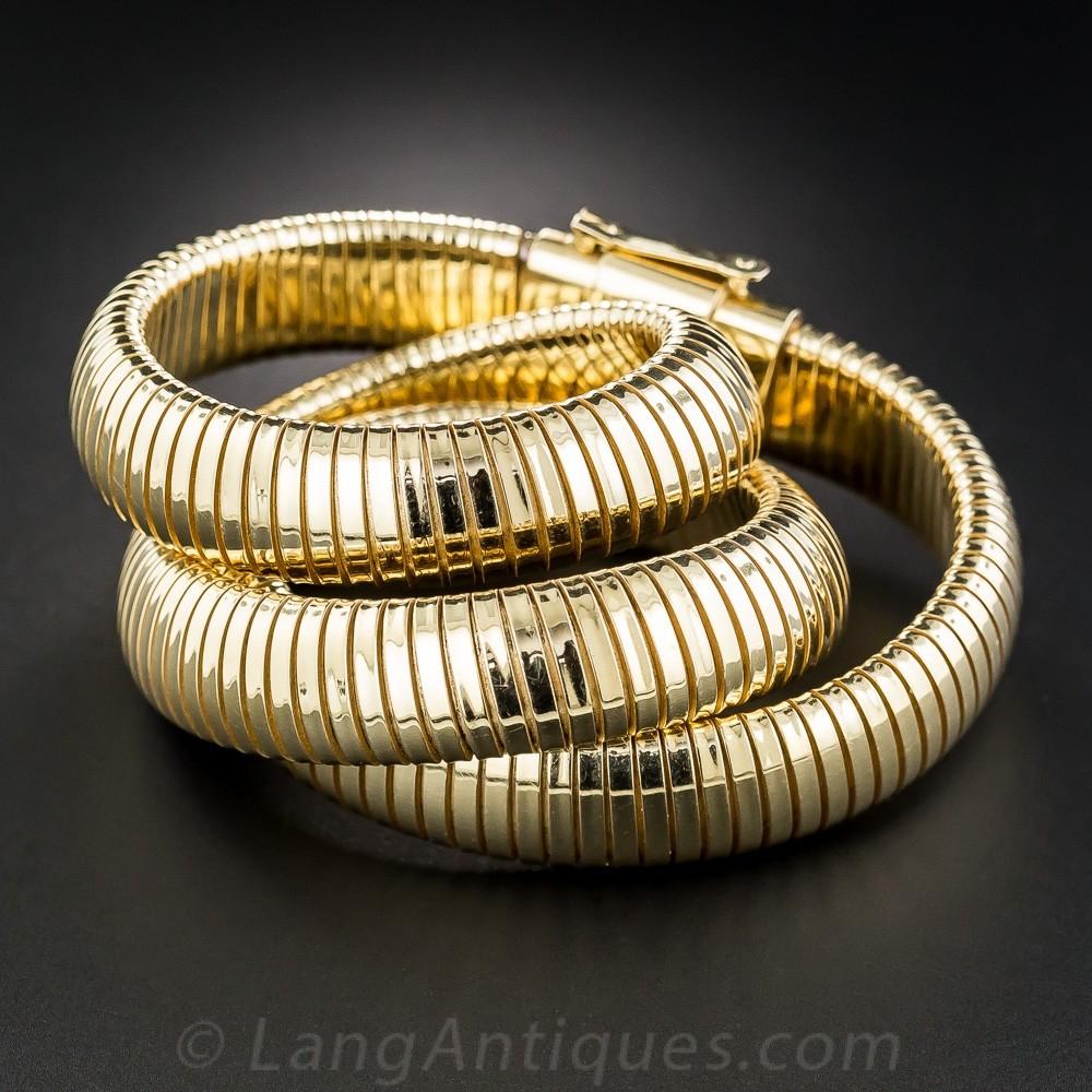 Vintage Gas Pipe Necklace by Forstner