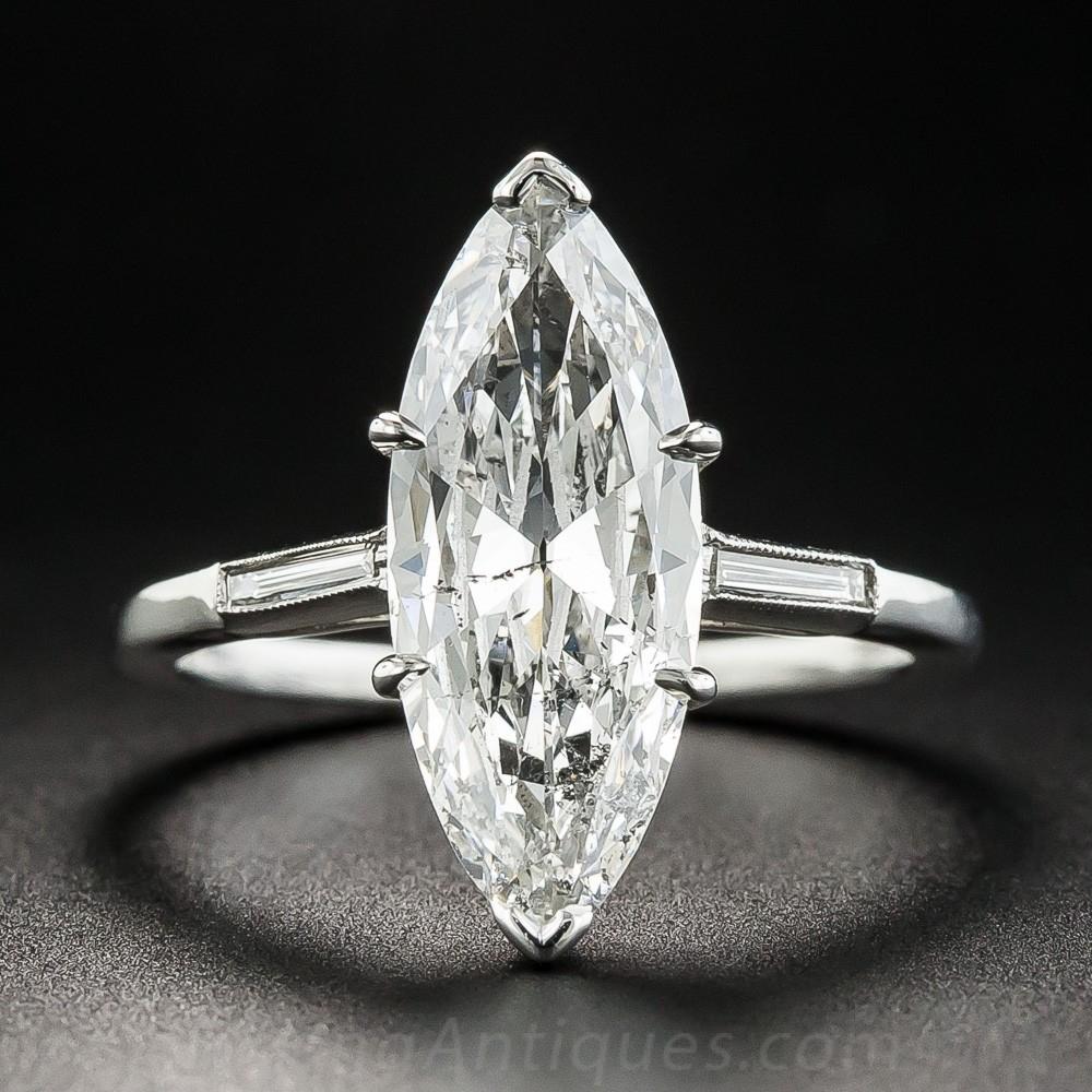 2.40 Carat Marquise Diamond Ring