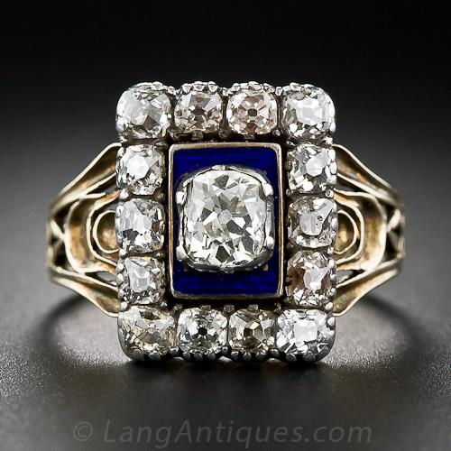 Georgian diamond engagement ring
