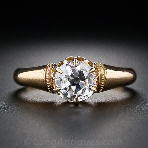 Victorian old mine cut solitaire engagement ring 2
