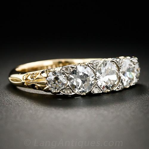 Victorian diamond engagement ring